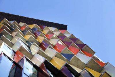 نمای پارامتریک ساختمان مسکونی-تجاری در سیدنی استرالیا