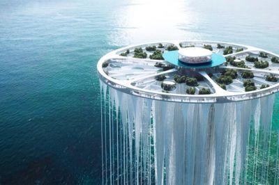 طراحی آسمان خراش معلق در چین