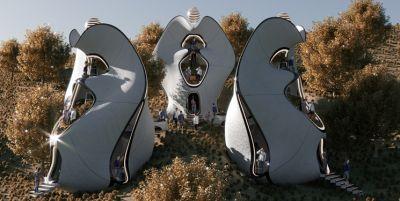 طراحی اولین خانههای با اسکلت بیرونی فولادی چاپ سهبعدی