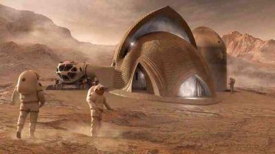 بتن مریخی با خون فضانوردان